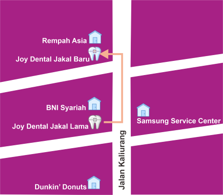 maps joy dental jakal baru